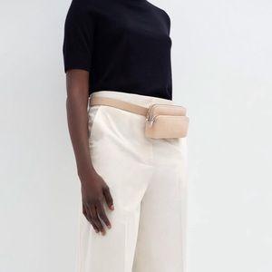 COS Leather Suede Belt Purse Bag